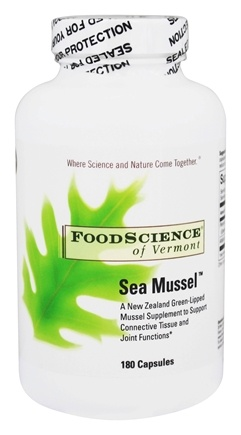 FoodScience of Vermont - Sea Mussel - 180 Capsules