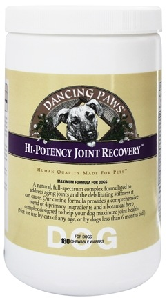 DROPPED: Dancing Paws - Canine Hi-Potency Joint Recovery - 180 Wafers