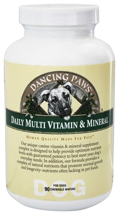 DROPPED: Dancing Paws - Canine Multi Vitamin & Mineral - 90 Wafers
