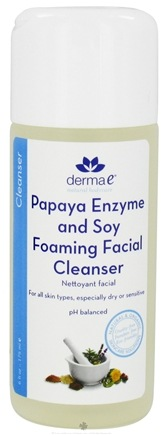 DROPPED: Derma-E - Papaya Enzyme and Soy Foaming Facial Cleanser - 6 oz. Formally Soy Milk CLEARANCE PRICED