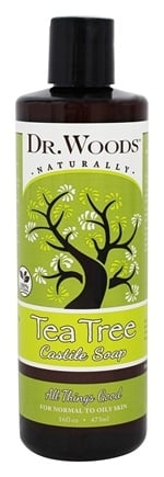 DROPPED: Dr. Woods - All Natural Eco-Friendly Castile Soap Pure Tea Tree - 16 oz. CLEARANCED PRICED