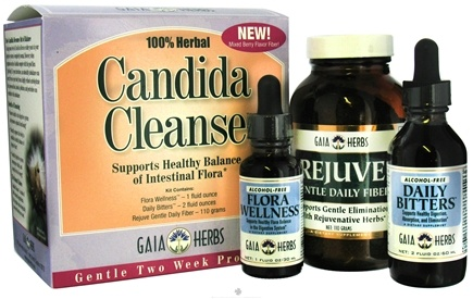 DROPPED: Gaia Herbs - Candida Cleanse Gentle Two Week Program Mixed Berry Flavor