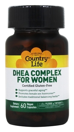 Country Life - DHEA Complex For Women - 60 Vegetarian Capsules Formerly Biochem