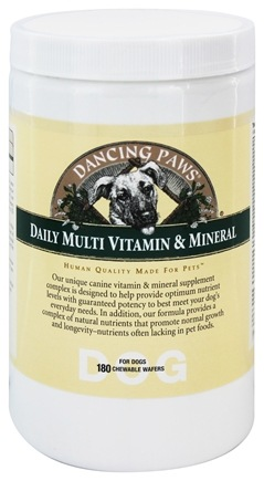 DROPPED: Dancing Paws - Multi Vitamin & Minerals For Dogs - 180 Wafers