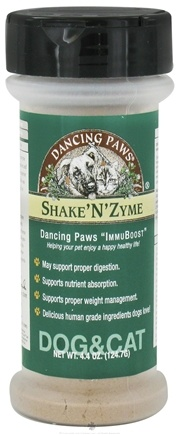 DROPPED: Dancing Paws - Shake'N'Zyme - 4.4 oz. CLEARANCE PRICED