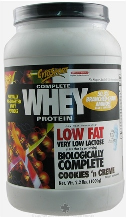 DROPPED: Cytosport - Complete Whey Protein Low Fat Cookies 'n Creme - 2 lbs.