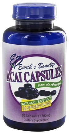 DROPPED: Earth's Bounty - Acai Capsules Natural Energy Superfood - 90 Capsules