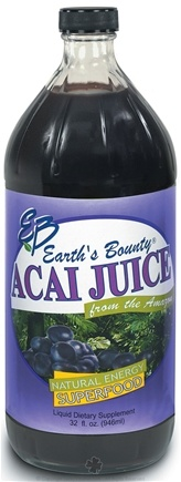 DROPPED: Earth's Bounty - Acai Juice Natural Energy Superfood - 32 oz.