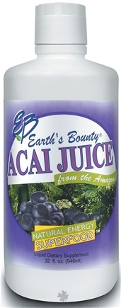 DROPPED: Earth's Bounty - Acai Juice Natural Energy Superfood - 1 Liter CLEARANCE PRICED