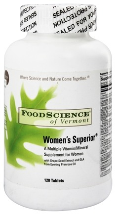 DROPPED: FoodScience of Vermont - Women's Superior - 120 Tablets