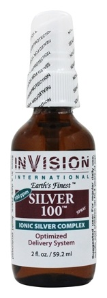 Invision International Health Solutions - Silver 100 Ionic Silver Complex Spray 100 Ppm - 2 oz.