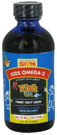 DROPPED: Health From The Sun - PFO A+ Kids Pure Fish Oil - 4 oz. CLEARANCE PRICED