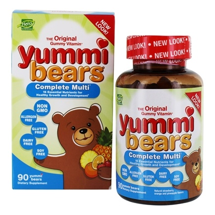 DROPPED: Hero Nutritionals Products - Yummi Bears Children's Complete Multi-Vitamin - 90 Gummies