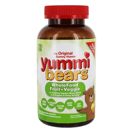 Hero Nutritionals Products - Yummi Bears Children's Wholefood Fruit + Veggie - 200 Gummies