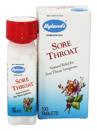 DROPPED: Hylands - Sore Throat - 100 Tablets