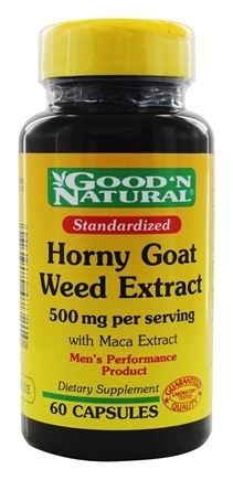 DROPPED: Good 'N Natural - Horny Goat Weed With  Maca Extract - 60 Capsules
