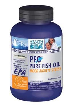 DROPPED: Health From The Sun - PFO Pure Fish Oil for Attention Mood Anxiety Stress - 90 Softgels