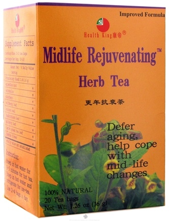 DROPPED: Health King - Midlife Rejuvenating Herb Tea - 20 Tea Bags CLEARANCE PRICED