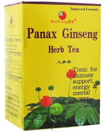 DROPPED: Health King - Panax Ginseng Herb Tea - 20 Tea Bags CLEARANCE PRICED