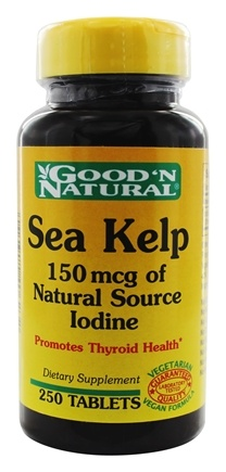 DROPPED: Good 'N Natural - Sea Kelp 150 mcg of Natural Source Iodine - 250 Tablets