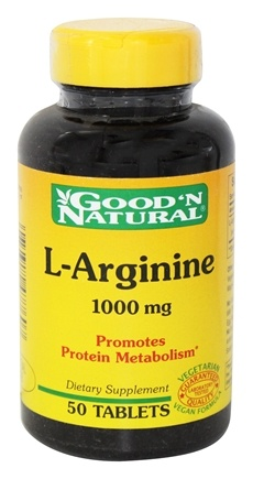 DROPPED: Good 'N Natural - L-Arginine 1000 mg. - 50 Tablets
