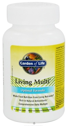 DROPPED: Garden of Life - Living Multi Optimal Formula - 126 Vegetarian Caplet(s)