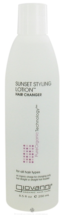 DROPPED: Giovanni - Sunset Styling Lotion Hair Changer For All hair Types - 8.5 oz.
