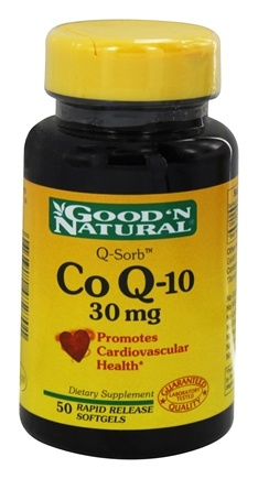 DROPPED: Good 'N Natural - CoQ-10 30 mg. - 50 Softgels