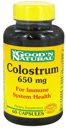 DROPPED: Good 'N Natural - Colostrum 650 mg. - 60 Capsules