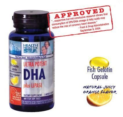 DROPPED: Health From The Sun - Ultra Potent DHA plus Lipase - 60 Softgels
