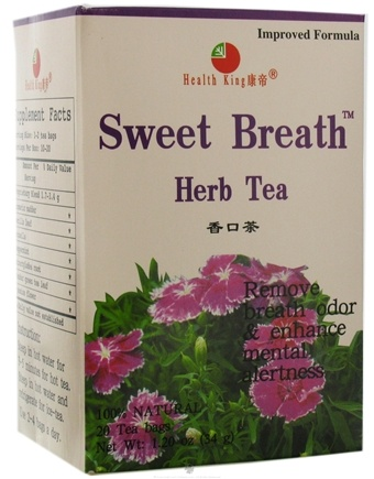 DROPPED: Health King - Sweet Breath Herb Tea - 20 Tea Bags CLEARANCE PRICED