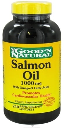 DROPPED: Good 'N Natural - Salmon Oil with Omega-3 Fatty Acids 1000 mg. - 240 Softgels