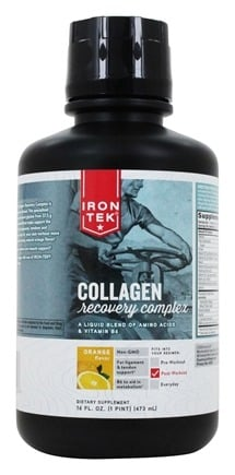 Iron Tek - Liquid Collagen Recovery Complex Orange - 16 oz. Formerly Essential Liquid Amino Complex