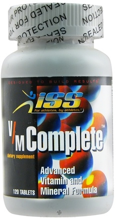 DROPPED: ISS Research - V/M Complete Advanced Vitamin and Mineral Formula - 120 Tablets