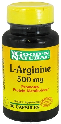 DROPPED: Good 'N Natural - L-Arginine 500 mg. - 50 Capsules