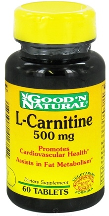 DROPPED: Good 'N Natural - L-Carnitine 500 mg. - 60 Tablets