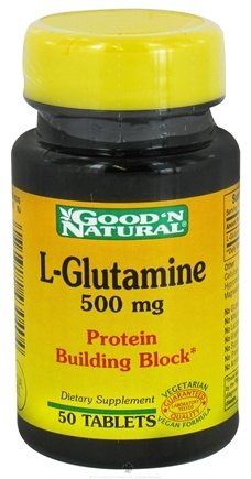 DROPPED: Good 'N Natural - L-Glutamine 500 mg. - 50 Tablets