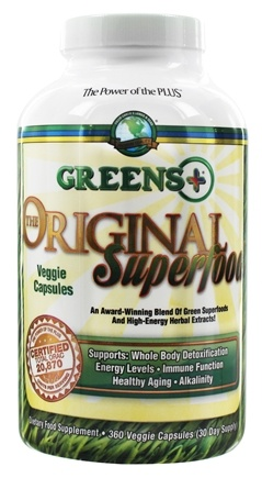 DROPPED: Greens Plus - Superfood For Optimal Health - 360 Vegetarian Capsules