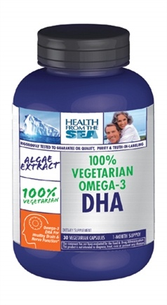DROPPED: Health From The Sun - 100% Vegetarian Omega-3 DHA - 30 Capsules