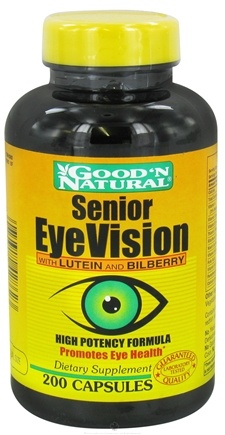DROPPED: Good 'N Natural - Senior Eye Vision with Lutein and Bilberry - 200 Capsules