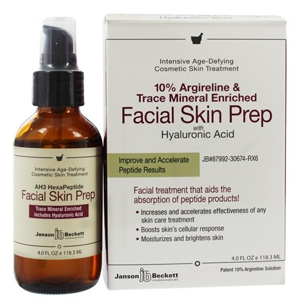 DROPPED: Janson Beckett - Facial Skin Prep Trace Mineral Enriched with AH 3 HexaPeptide - 4 oz.