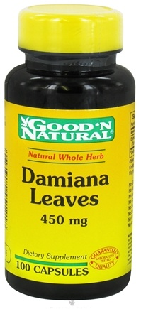 DROPPED: Good 'N Natural - Damiana Leaves 450 mg. - 100 Capsules