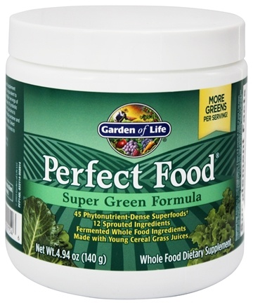 Buy Garden of Life - Perfect Food Super Green Formula Powder - 4.94 ...