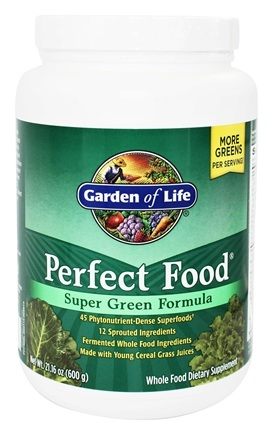 Garden of Life - Perfect Food Super Green Formula Powder - 21.16 oz.