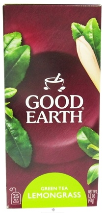 DROPPED: Good Earth Teas - Green Tea Lemongrass - 25 Tea Bags