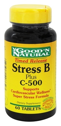 DROPPED: Good 'N Natural - Stress B Plus C-500 Time Release - 60 Tablets