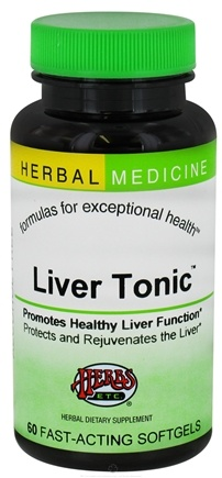 DROPPED: Herbs Etc - Liver Tonic Alcohol Free - 60 Softgels CLEARANCE PRICED