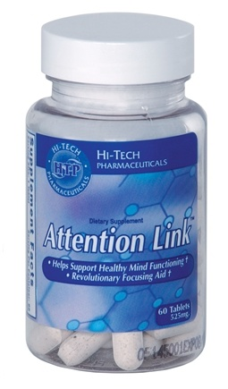 DROPPED: Hi-Tech Pharmaceuticals - Attention Link 525 mg. - 60 Tablets