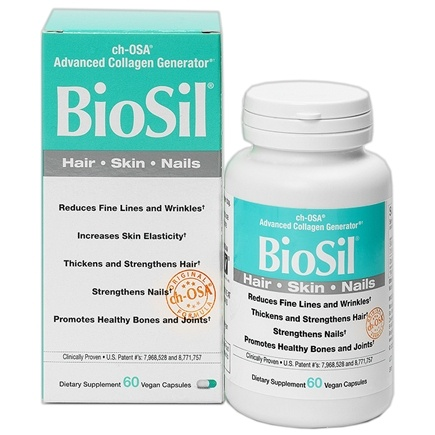 Natural Factors - BioSil ch-OSA Advanced Collagen Generator 5 mg. - 60 Vegetarian Capsules Formerly by Jarrow & Natrol