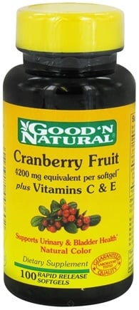 DROPPED: Good 'N Natural - Cranberry Concentrate With Vitamin C - 100 Softgels